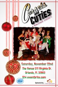 Corset and Cuties Burlesque Cabaret Flyer